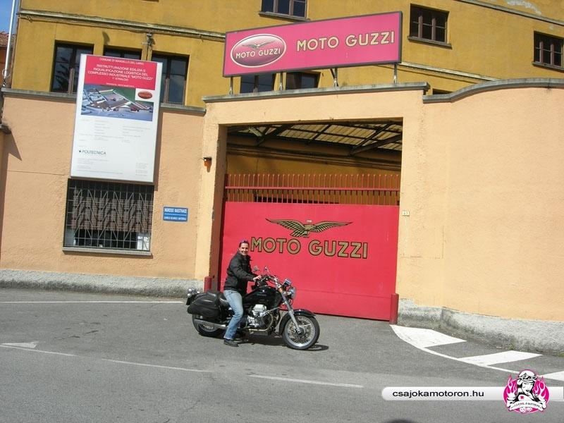 Moto Guzzi múzeum bejárata