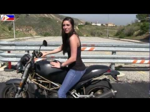 The CUTEST Female Motorcycle Riding Instructor in the world - Outtakes :-)