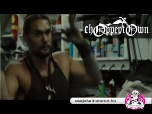"Jason Momoa ""hand-starts"" his custom bobber - Road to Paloma clip"